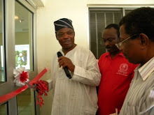 Rep, Oyo State Commissioner for Health declaring the exhitibion open