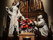 Virgen del Carmen y San Simón Stock