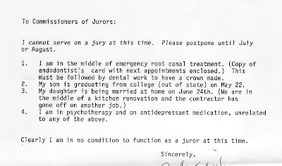 Jury Duty Deferral Letter Sample Uk