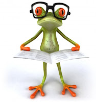 frog reading learning