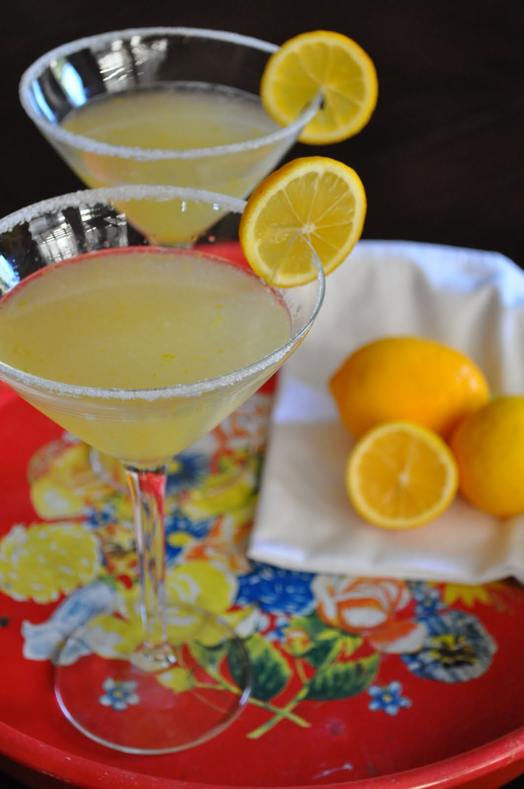 Happy Hour: Meyer Lemon Drop Martini | Lemons and Lavender