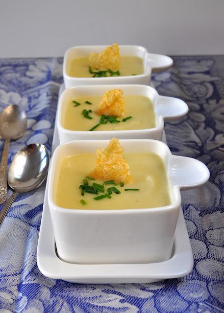 Silky Cauliflower Soup With Parmesan Crisps | Lemons and ...