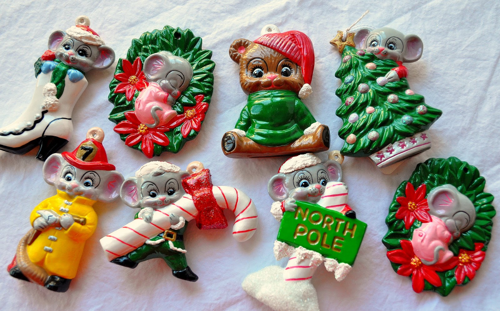 These Are Some Of The Remaining Christmas Ornaments Painted By Yours Truly  When I Was A Senior In High School A Family Friend Got Me Interested In  Painting