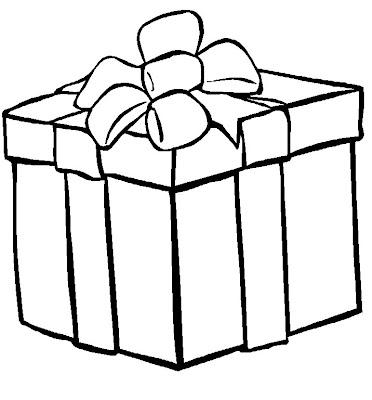 Este desenho de caixa de presentes pode ser usado para pintar e fazer um
