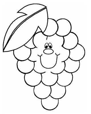 tudo aqui online pro desenhos de frutas para colorir uva para