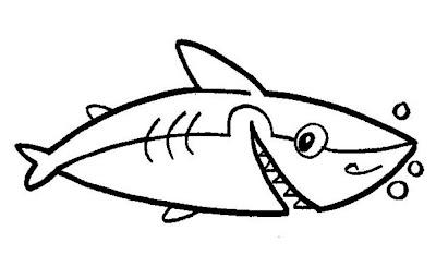 Desenho+de+tubar%C3%A3o Desenho de tubarão para colorir, desenhos de peixes e animais aquáticos para imprimir para crianças