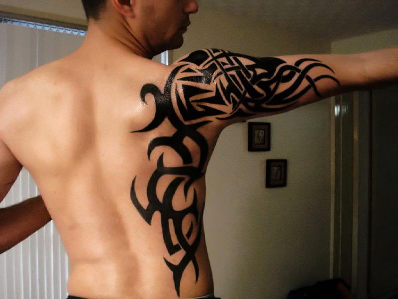 tattoo tribal en espalda y brazo categorias tatto espalda tattoo ...