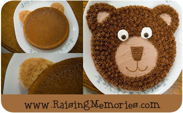 Easy Teddy Bear Face Cake
