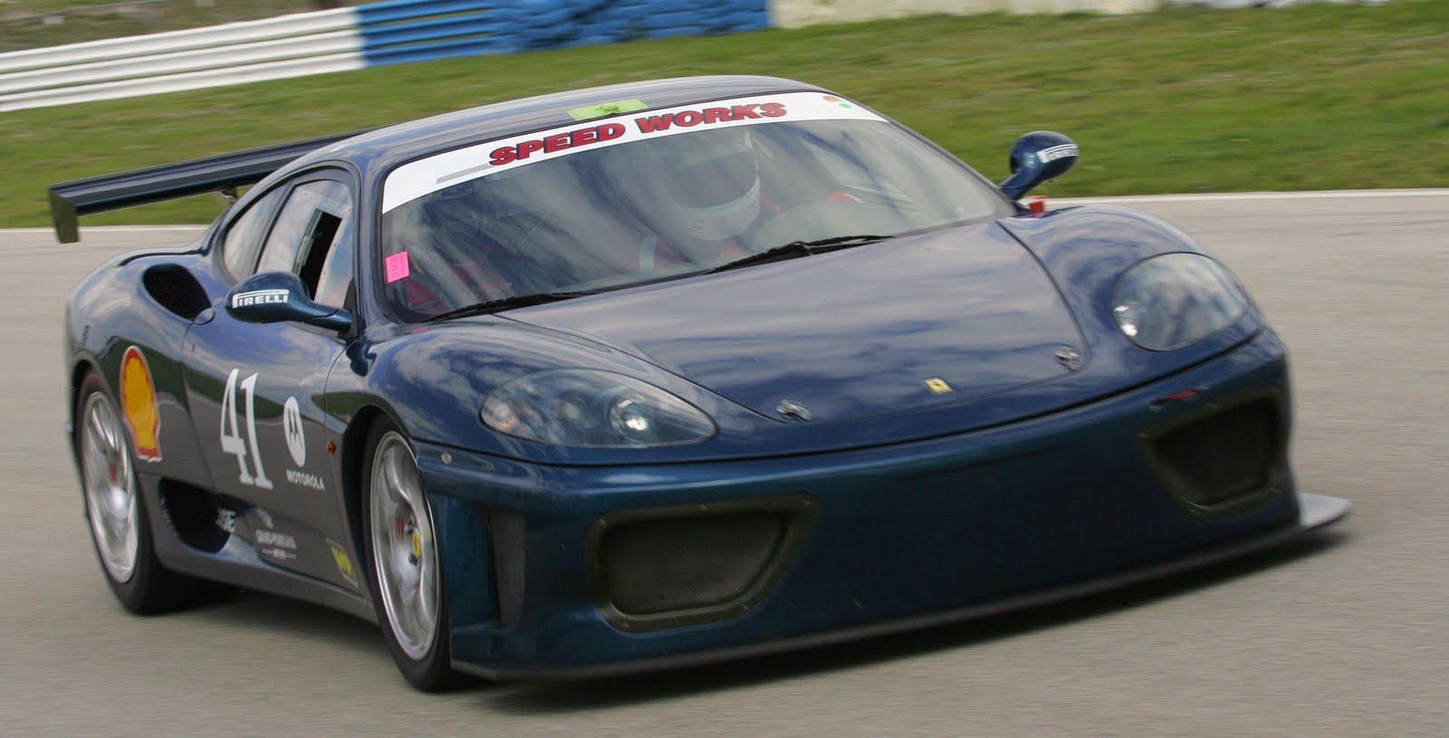 his 360 Ferrari Challenge
