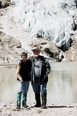Jim & I resting from a hike in the Bugaboo Mountains - summer of 2002