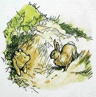 rabbit and pooh