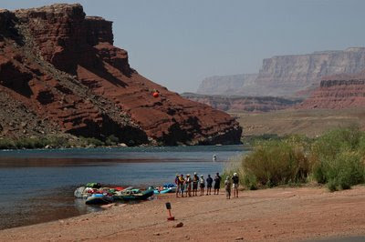 brave adventurers, ready for a whitewater trip downstream through the Grand Canyon