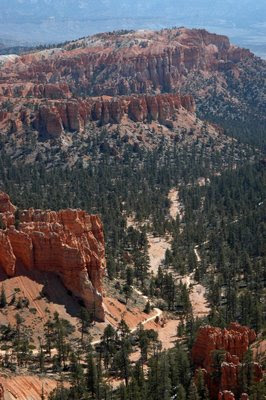a close-up view from Inspiration Point