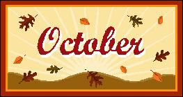 October has arrived!
