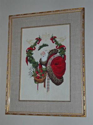 I completed this lovely needlework picture of a woodland Santa in 1991, and it resides in the main hallway year-round