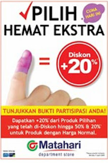 Nyontreng Pemilu 2009 DISKON 20% Matahari !!!