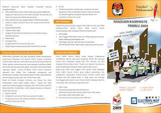 Brosur Panduan Kampanye Pemilu 2009  - Halaman 2
