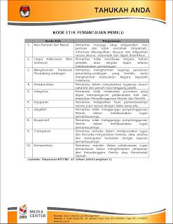Kode Etik Pemilu Pemilu Indonesia 2009