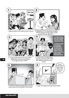Komik  Tata Cara Pemberian Suara Di Tps - 1