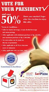 Diskon 50% Coldstone di Pilpres 8 July 2009