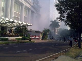 Foto Ledakan JW Mariiot dan Ritz-Carlton