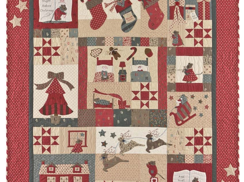 Quilting By The Bay Twas The Night Before Christmas Bom