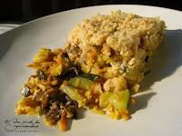 crumble legume courgette poireau carotte champignon parmesan