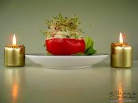 tomate graine germee avocat crevette grise entree