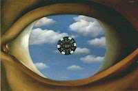 'The False Mirror' by Rene Magritte (slightly altered)