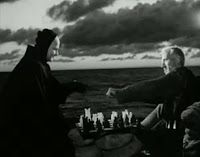 Block plays chess with Death in 'The Seventh Seal' (1957)