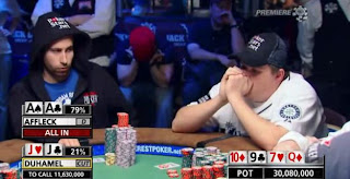 Jonathan Duhamel and Matt Affleck, Day 8, 2010 WSOP Main Event