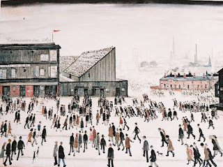 'Going to the Match' by L.S. Lowry (1928)
