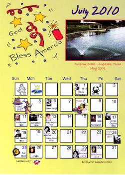 My Personal July 2010 Kalendar!