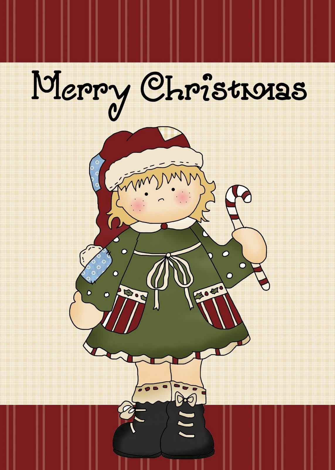 It is an image of Sweet Printable Christmas Cards