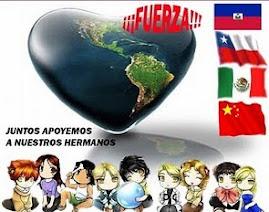 Porque todos apoyamos a mi Chile Lindo a mi Mexico querido  a mi Haiti Hermoso y mi China Exquisita