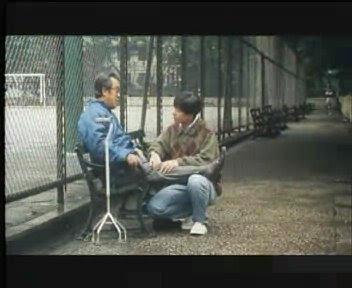 楊醒波和爸爸在公園化解心結