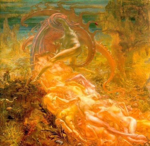 لوحة جهنم لدلفيل