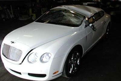 Bentley Continential GT crash smash accident