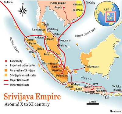 Peta Kekuasaan Sriwijaya abad ke-10