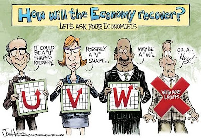 humor 170809 how will the economy recover Shape of recovery