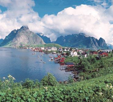 mount, Mountains, Lake, sunset, Noruega