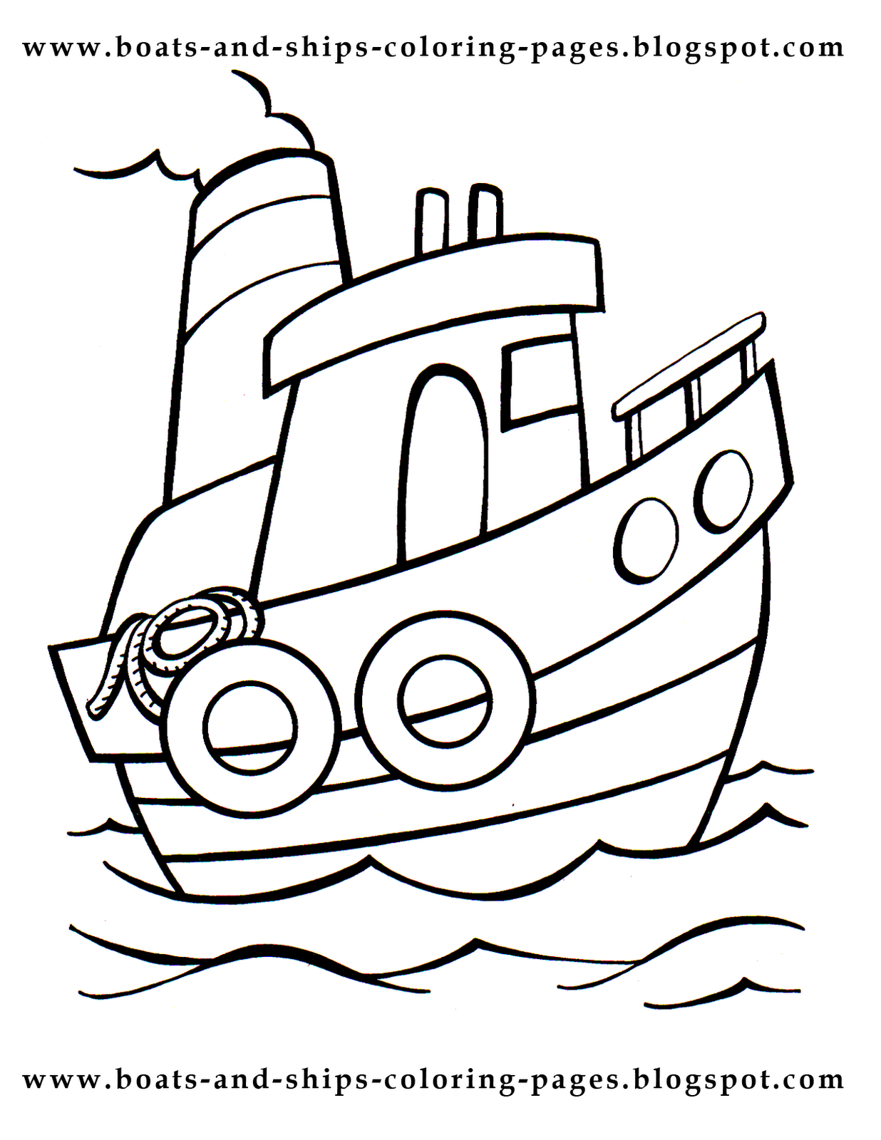 Ships And Boats Coloring Pages