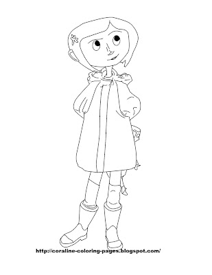 coraline coloring pages Coraline Coloring Pages coraline coloring pages