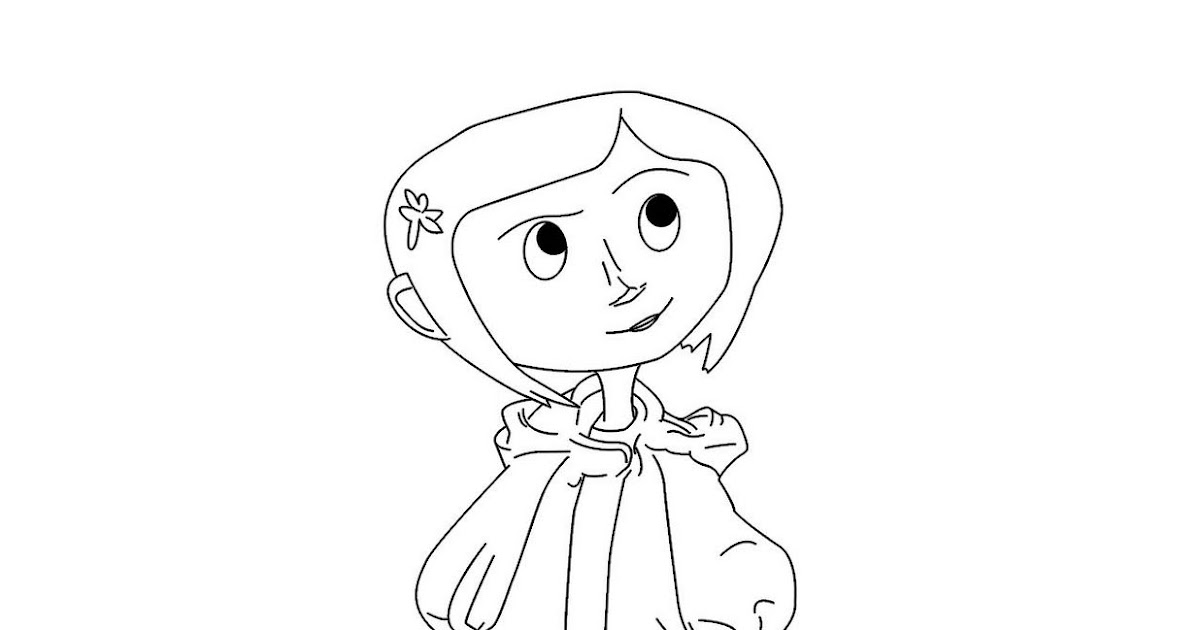Coraline Coloring Pages Two New