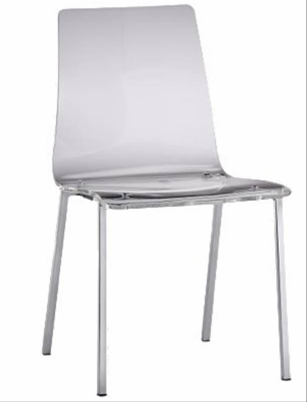 cb2 vapor chair clear transparent acrylic chair chrome plated steel