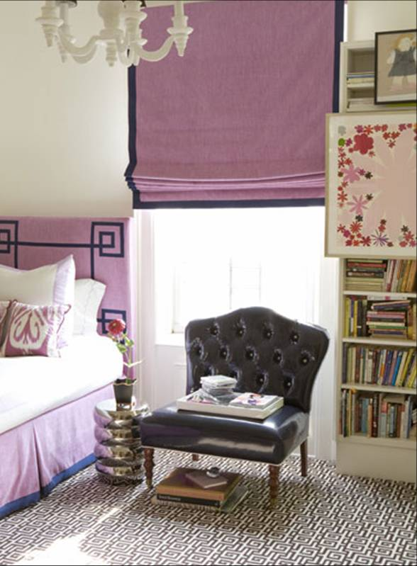 bedroom white glass chandelier purple grape violet