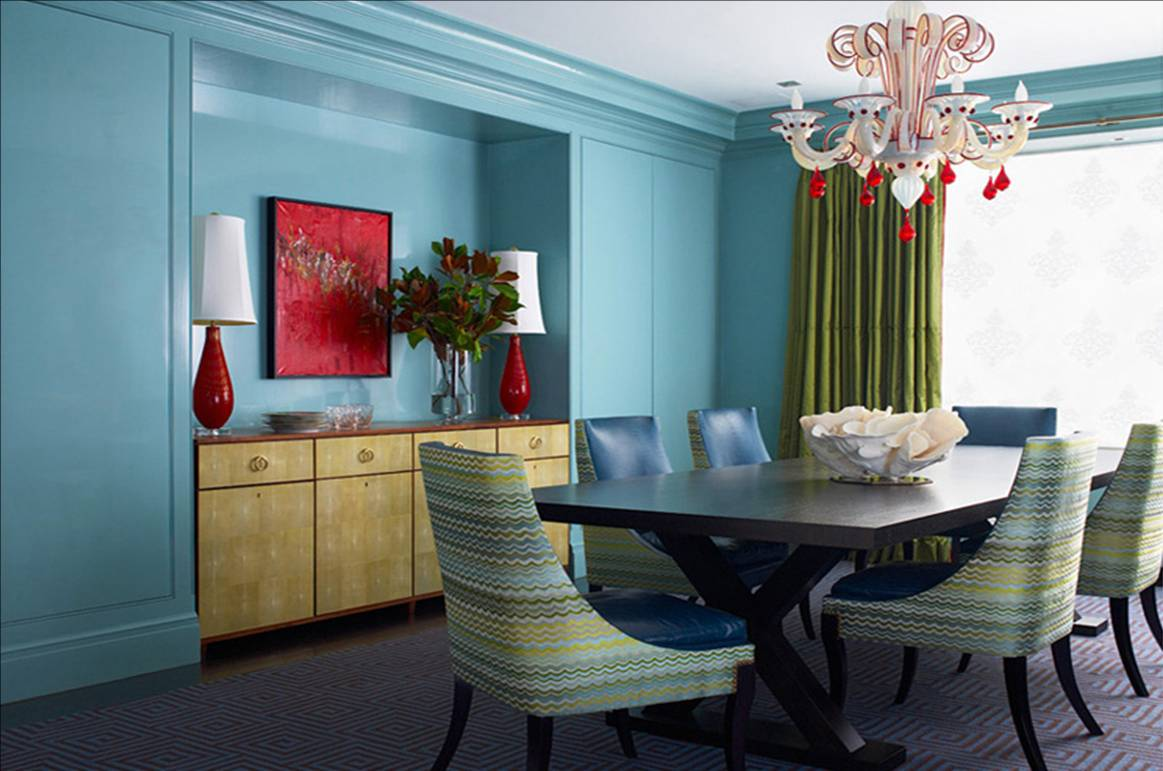 Paint the moldings the same color as the wall your decor nyc - Red dining room color ideas ...