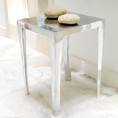 Cheap to chic shiny cool metal side tables coffee tables for Cool side tables