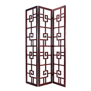 Greek key three paneled screen from House Eclectic