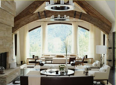 Decorate Living Room on Lodge Like Great Room Does It All For This Home A Living Room Area In